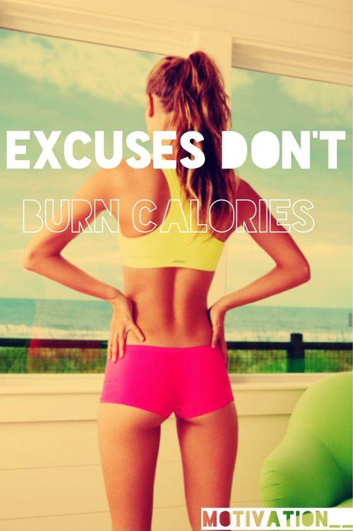 les excuses ne brulent pas les calories