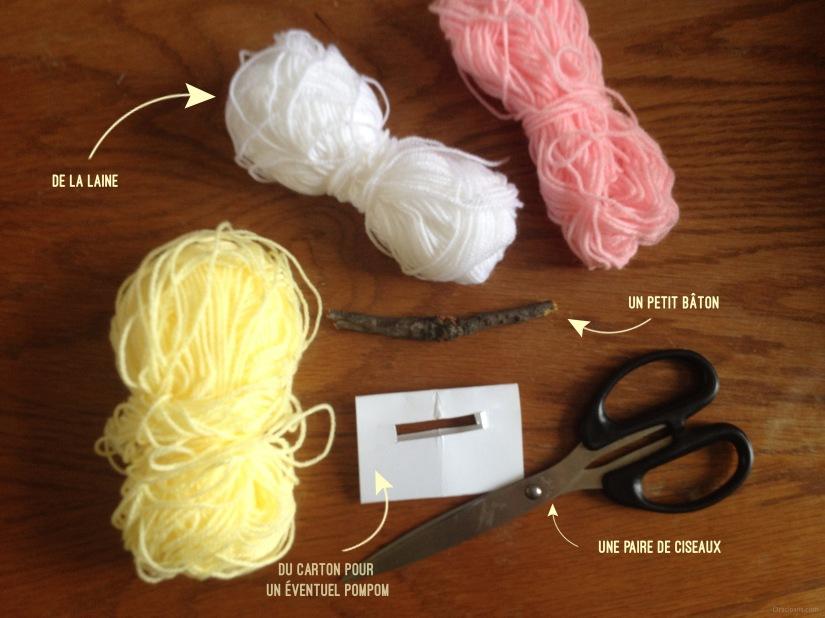 Tutoriel faire un fanion en laine le materiel dracipana.com