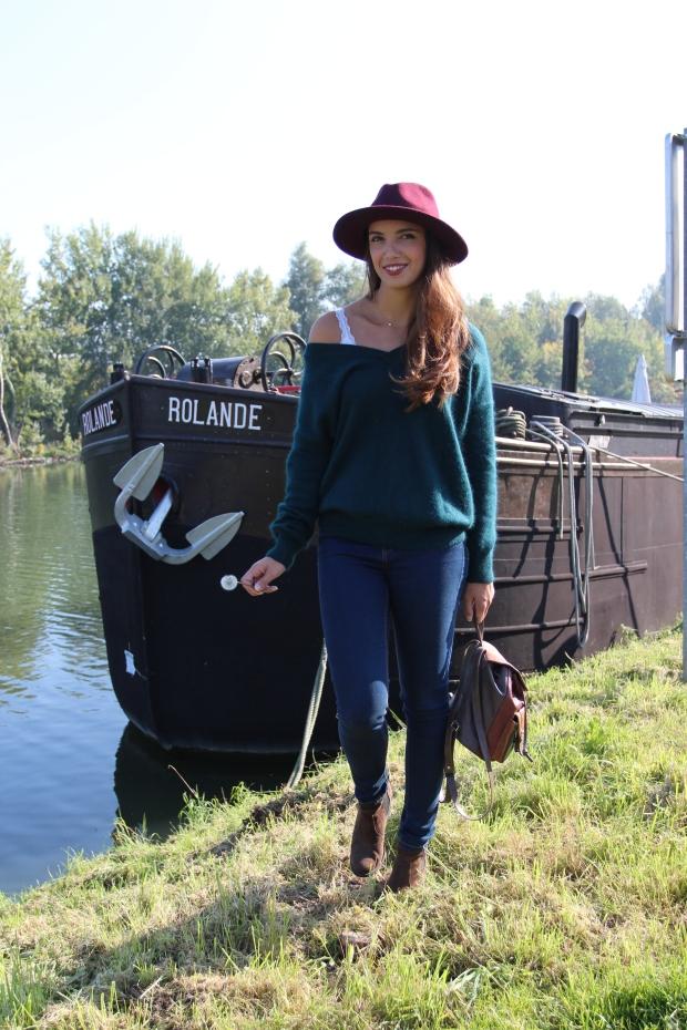 Dracipana.com blog mode lillois boho look boheme chapeau rouge bordeaux
